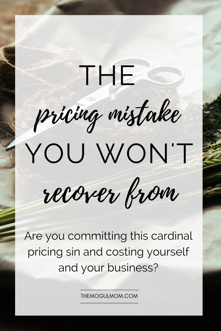 The Pricing Mistake You Won't Recover From [Free Worksheet]