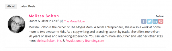 The Mogul Mom Author Bio | MCB