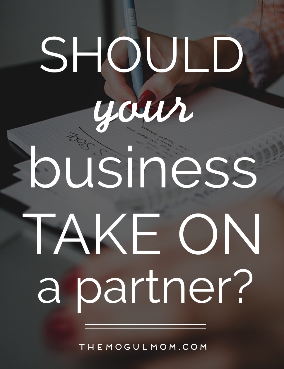 Should Your Business Take On A Partner?