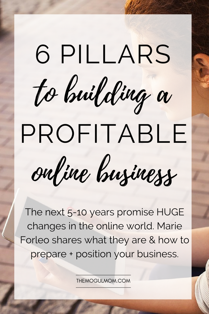 The Six Pillars To Building a Highly Profitable Business Online