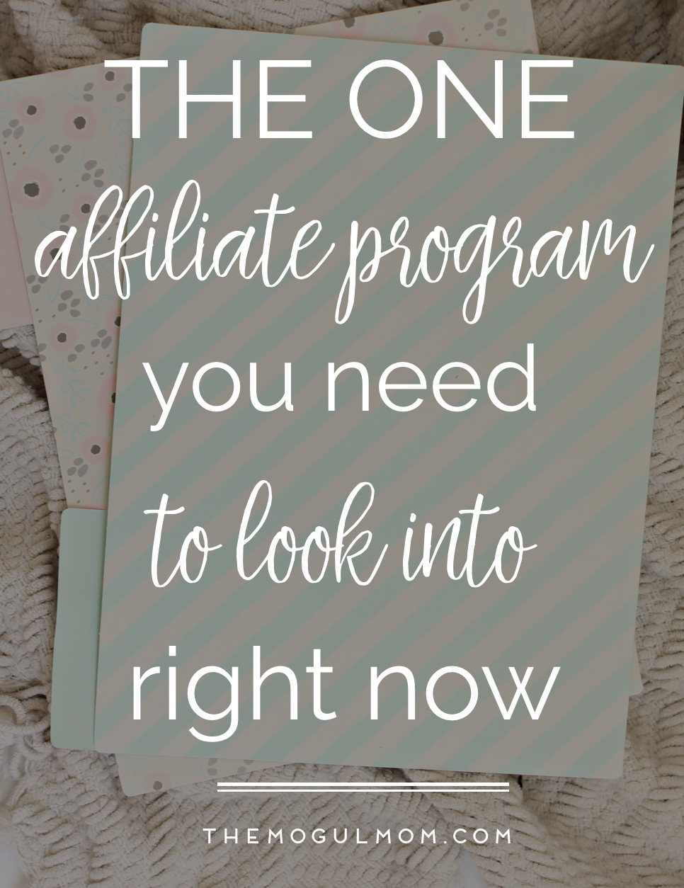 The One Affiliate Program You Should Look Into Right Now